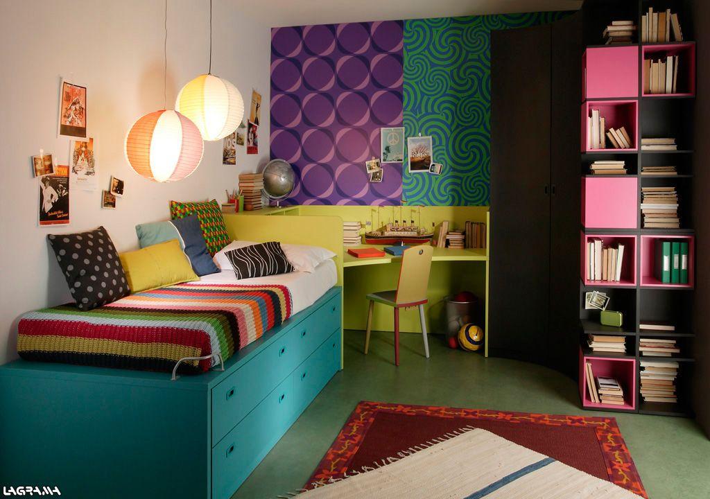 Armario Garaje Ikea ~ Catálogo Aire avatar 12 Dormitorio juvenil con una cama, escritorio y armario rincón de
