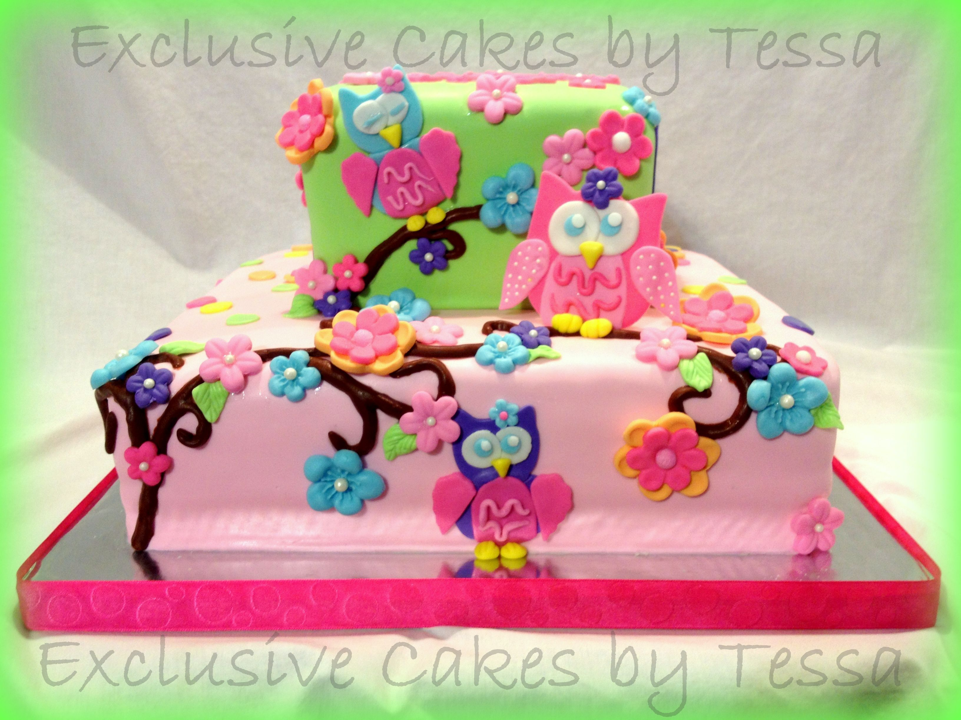 Owl Themed Baby Shower Cake By Exclusive Cakes Birthday