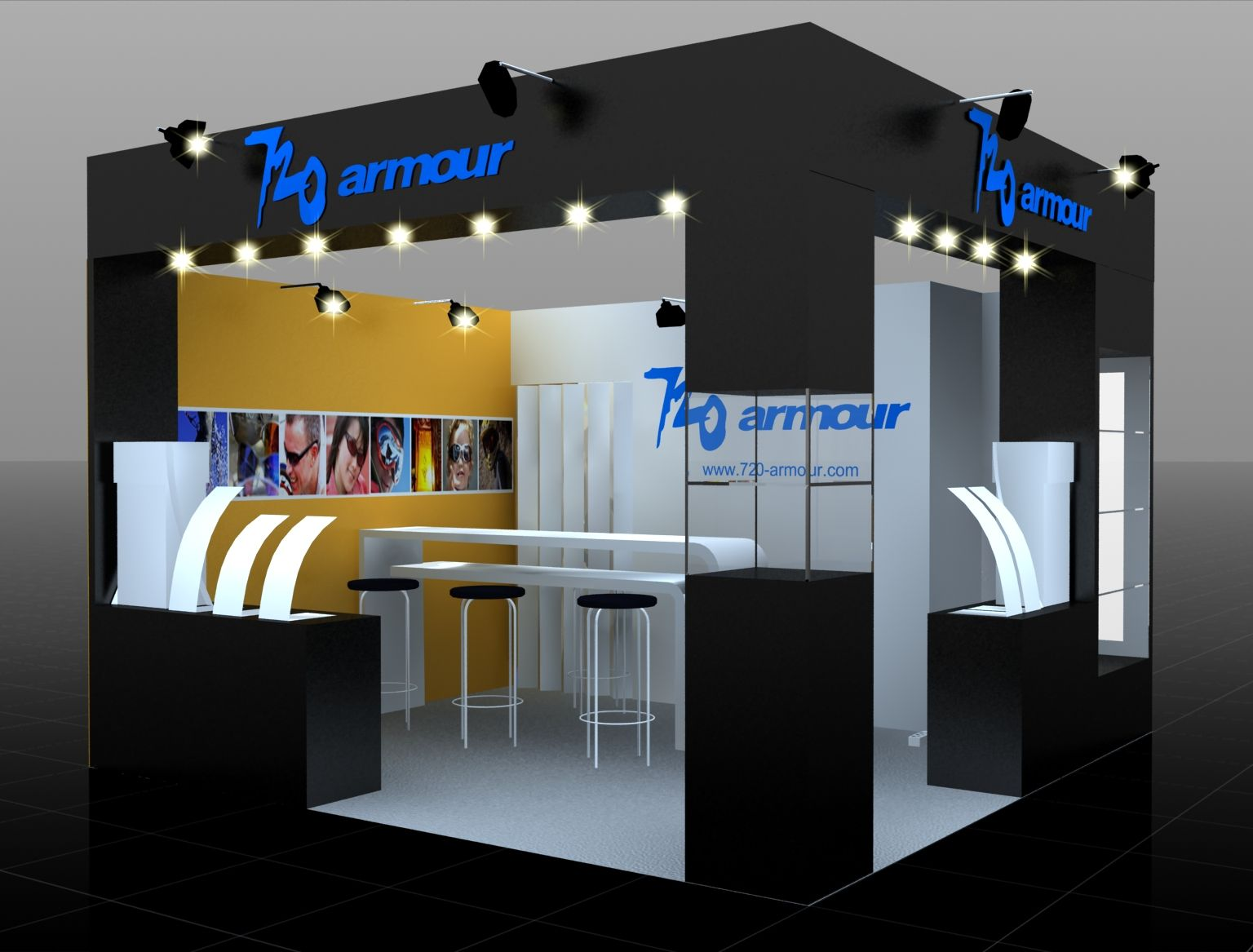 Simple Exhibition Stand Out : Trade show booth layout design image