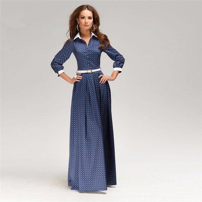 plus size s-3xl new women summer dress long sleeve elegant dress
