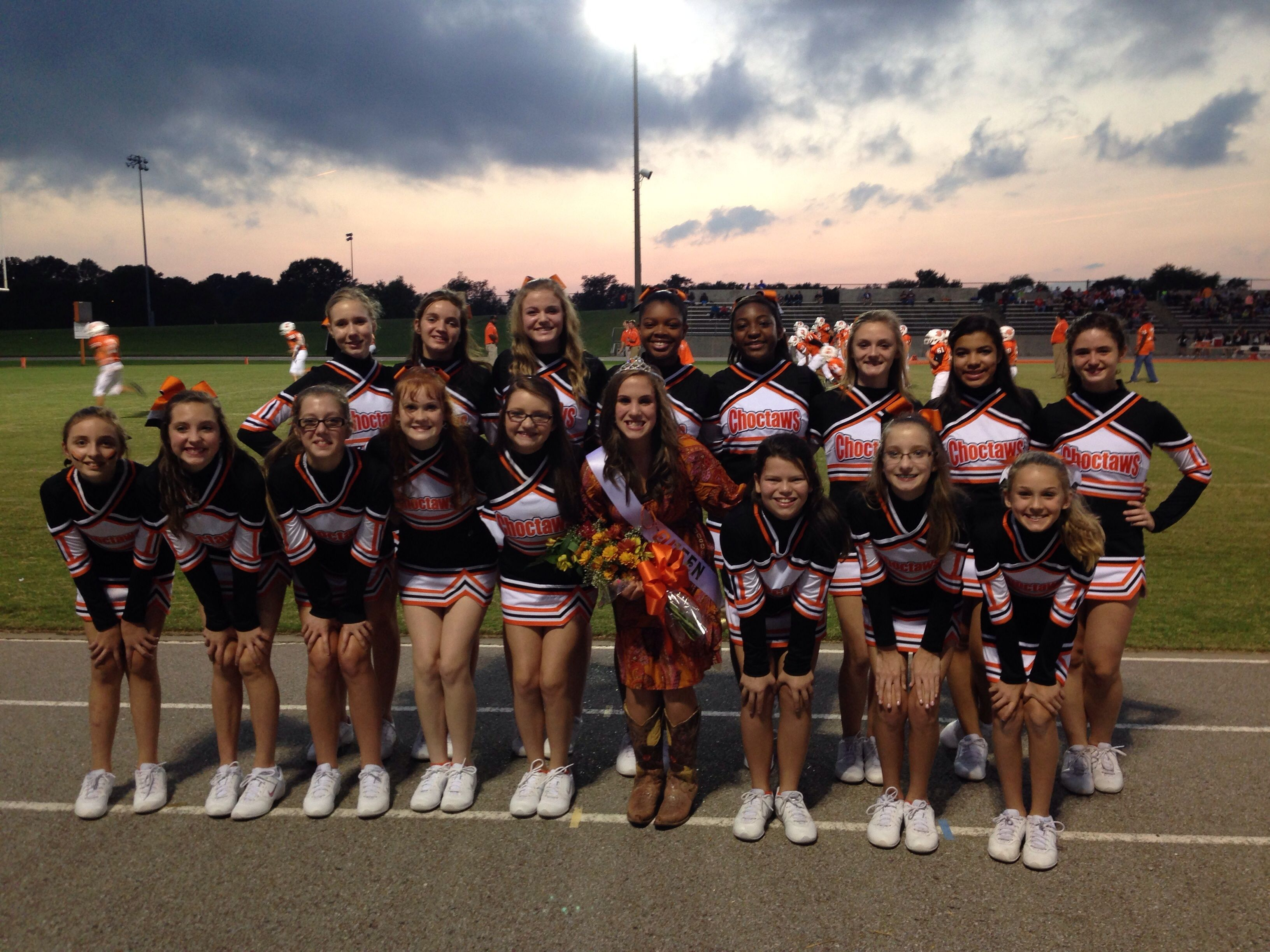 Newbern Tennessee Cheerleaders supporting their captain and newly crowned homecoming queen! #WeLoveOurCustomers