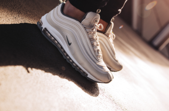 air max 97 beige on feet