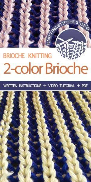 Two-Color Brioche - Knitting Stitches - Diy Crafts
