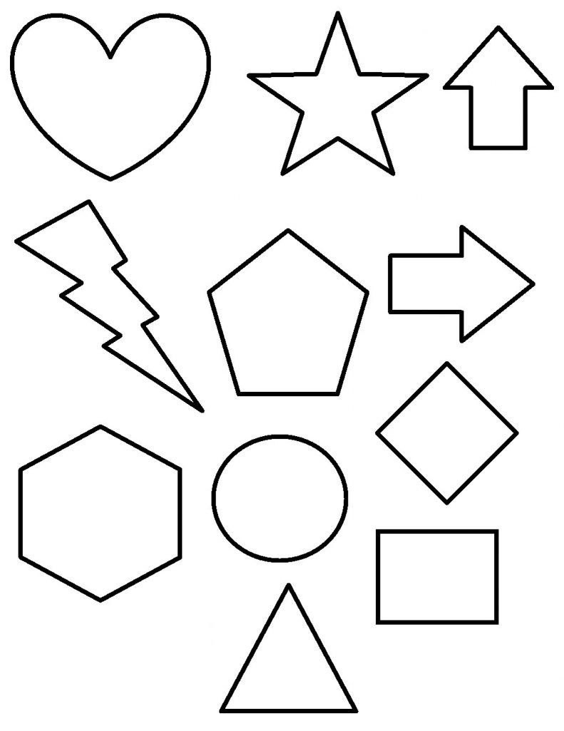 Shapes Coloring Pages | Educational Coloring Pages | Pinterest ...