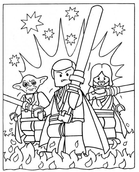 the heroes from lego star wars coloring page to print for kids - Star Wars Coloring Pages Print