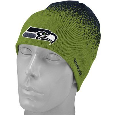 2eca5bdc157828 Reebok Seattle Seahawks Youth Green 2009 Fadeout Sideline 2nd Season Player  Beanie