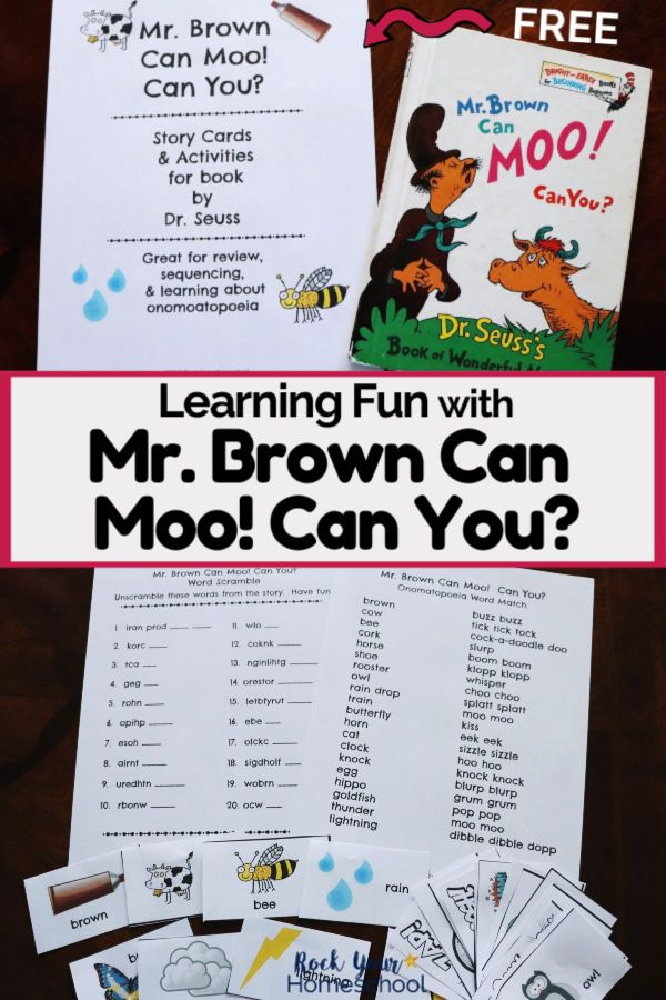 Free Printable Pack For Mr Brown Can Moo Can You Fun Learning