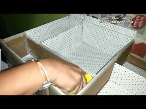 Organizador para material de manualidades. - YouTube