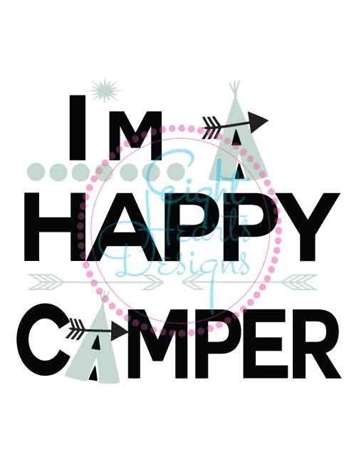 Im A Happy Camper SVG Studio Design Files