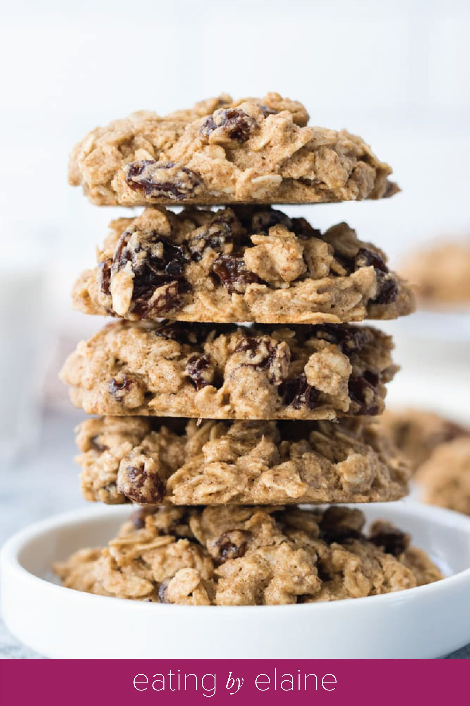 Soft And Chewy Vegan And Gluten Free Oatmeal Raisin Cookies Nut Free Refined Sugar Free In 2020 Sugar Free Oatmeal Cookies Vegan Cookies Recipes Sugar Free Eating