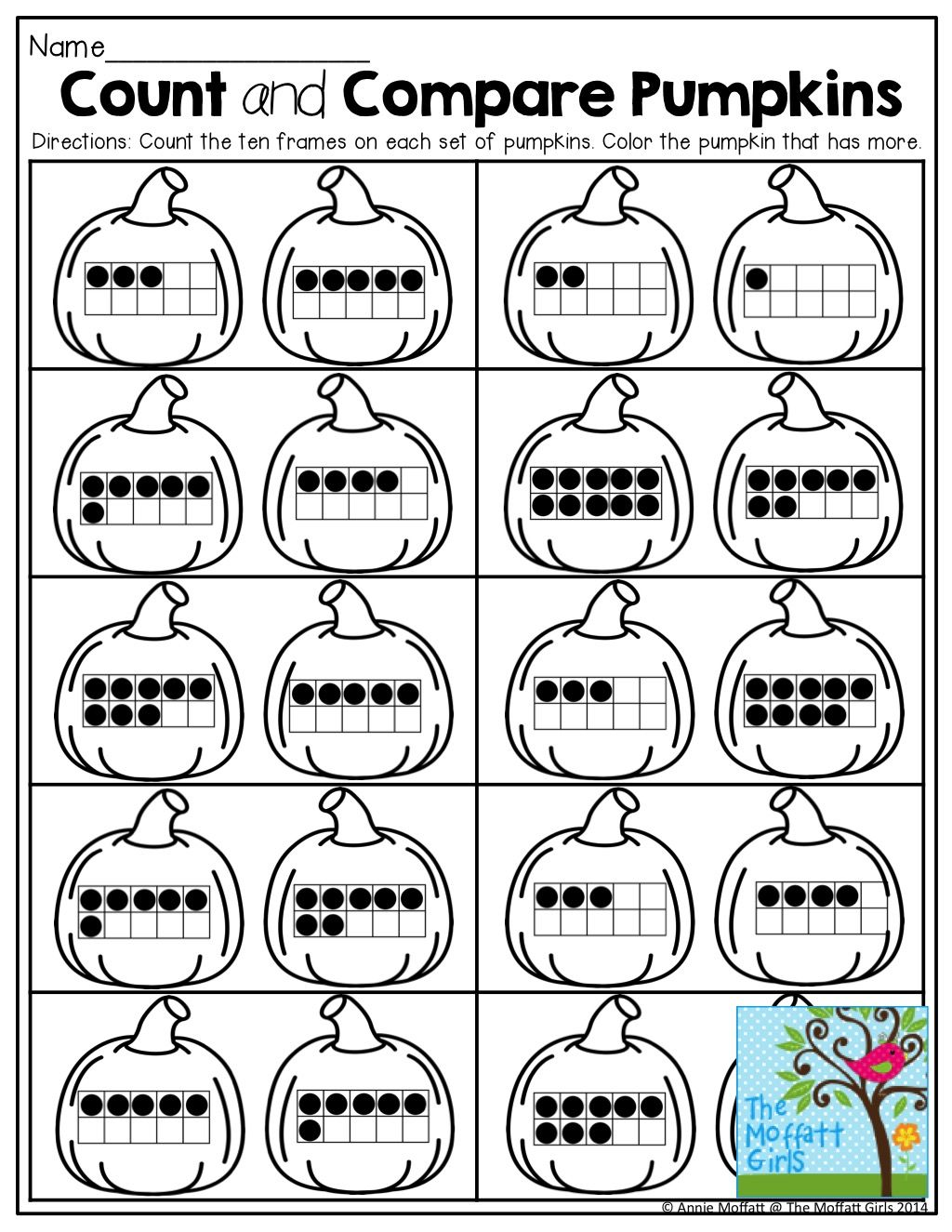Count And Compare Ten Frames Tons Of Fun And Effective Printables That Teach Grade Level Skills