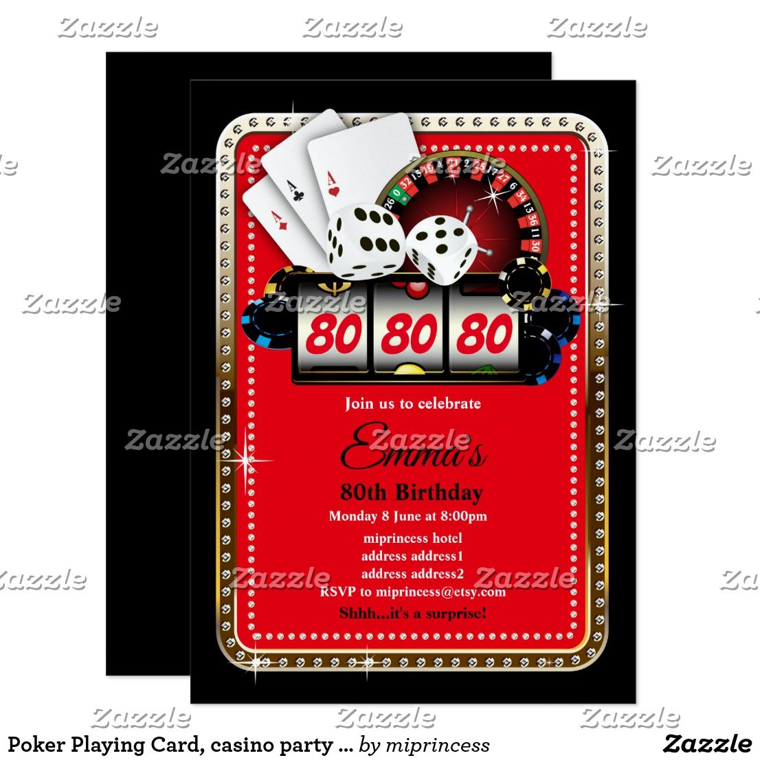 Poker Playing Card, casino party invite   what you want   Pinterest ...