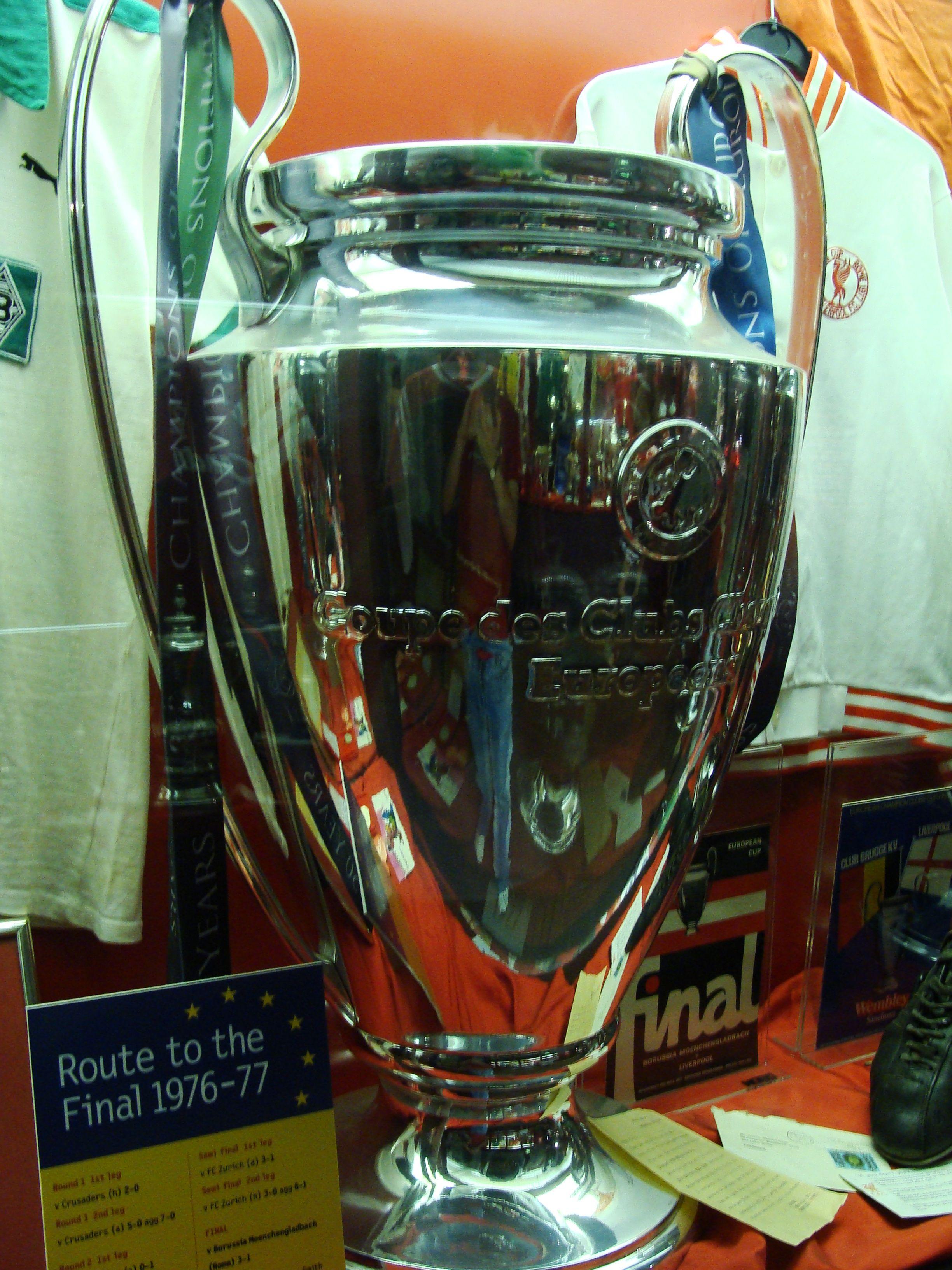 ♠ The European Cup / Champions League Trophy in the Liverpool Museum #LFC #History #Legends