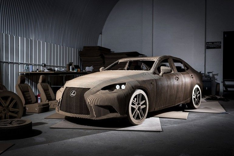 Lexus The First Cardboard Car Matrec Cardboard Car Origami Car Lexus Cars