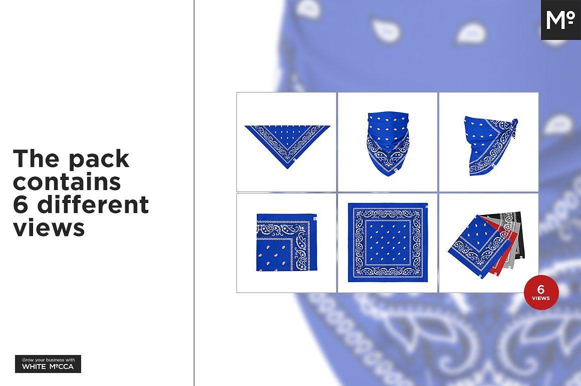 The Bandana Mock Up Color Picker Stationery Mockup Custom Printed Napkins