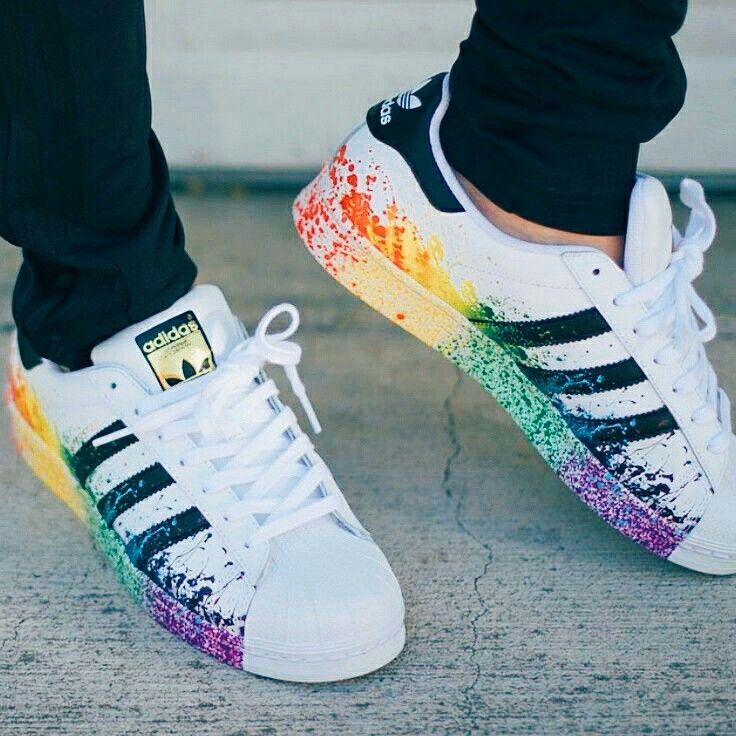 adidas superstar arcobaleno ragazza