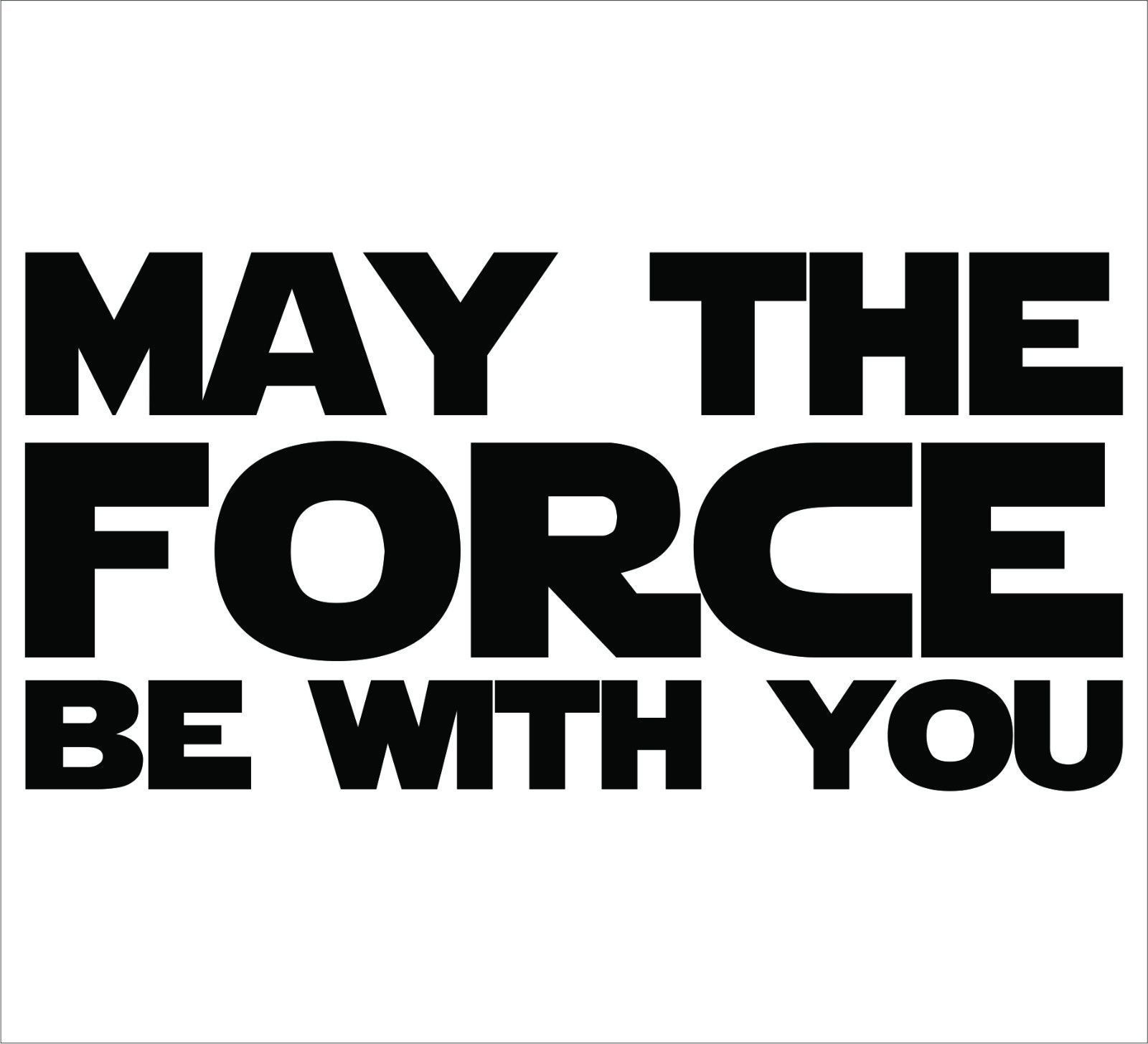 Details About Star Wars May The Force Be With You Sticker