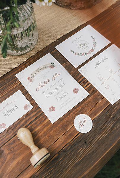 Pocketfoldeinladung Pocket Einladung Vintage Hochzeit Einladung