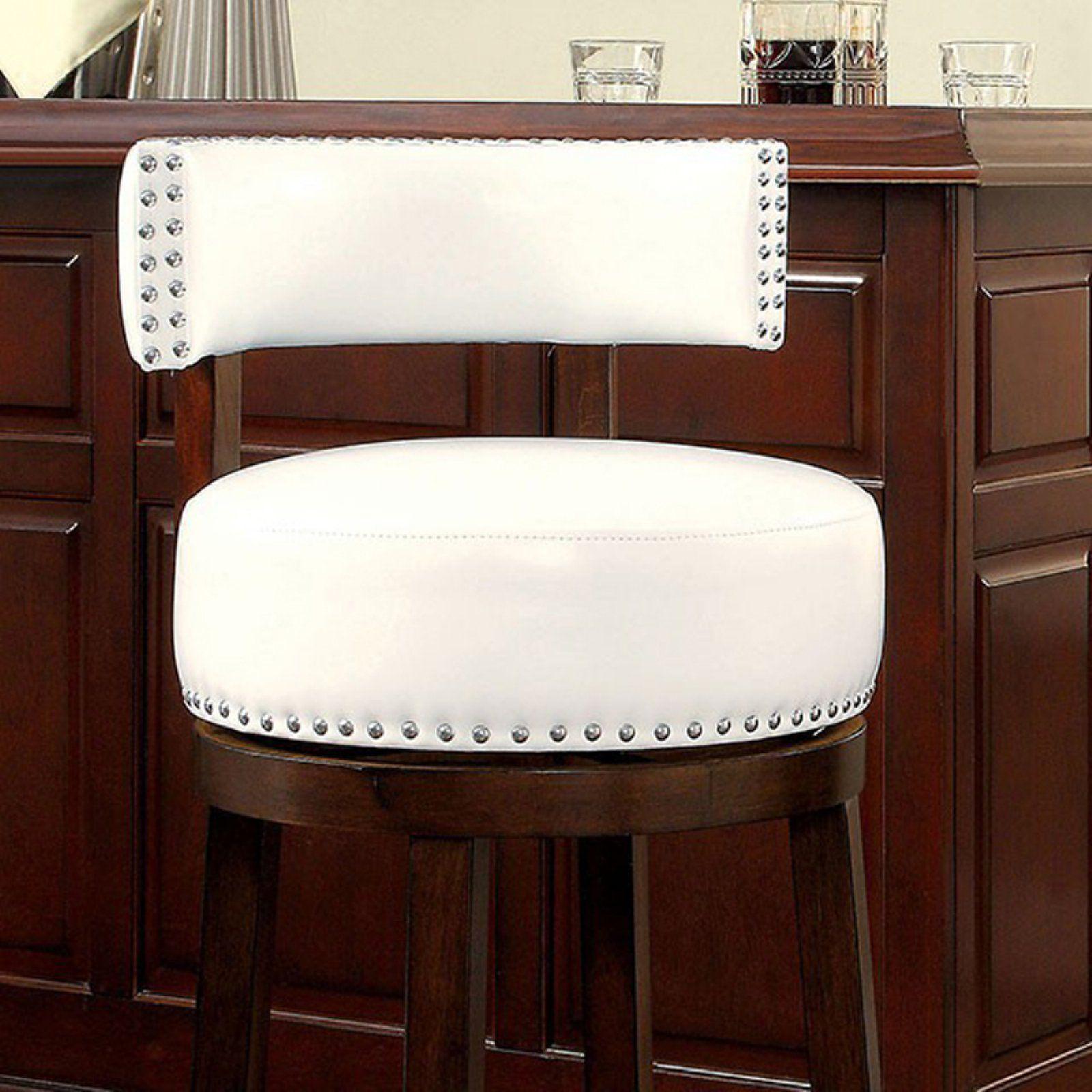 Benzara Shirley 29 In Contemporary Bar Stool Set Of 2 White