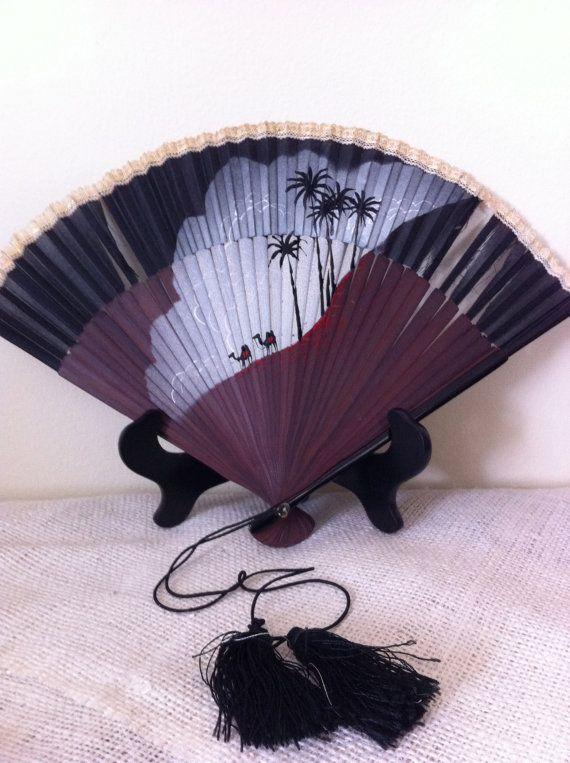 Hand painted decorative fan by AnnaJana on Etsy, $7.00