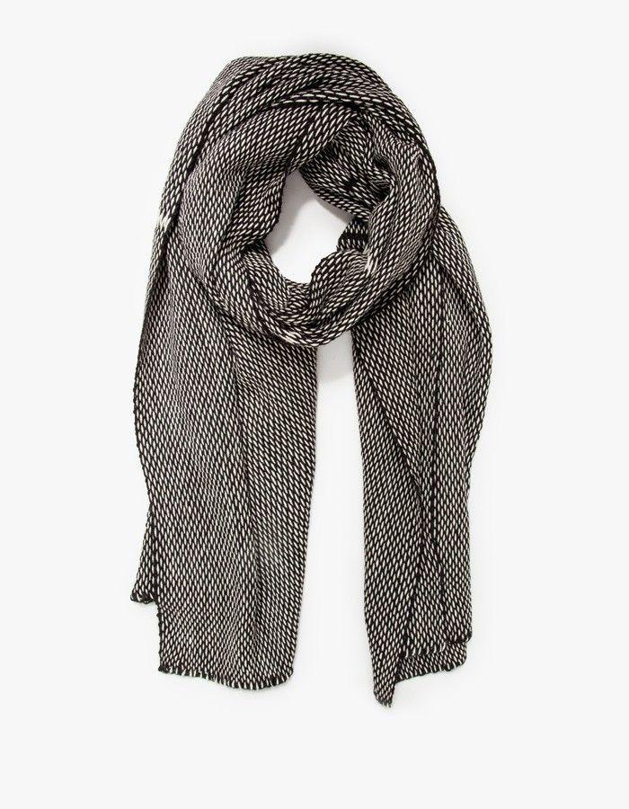Lineas Wrap Black w/White