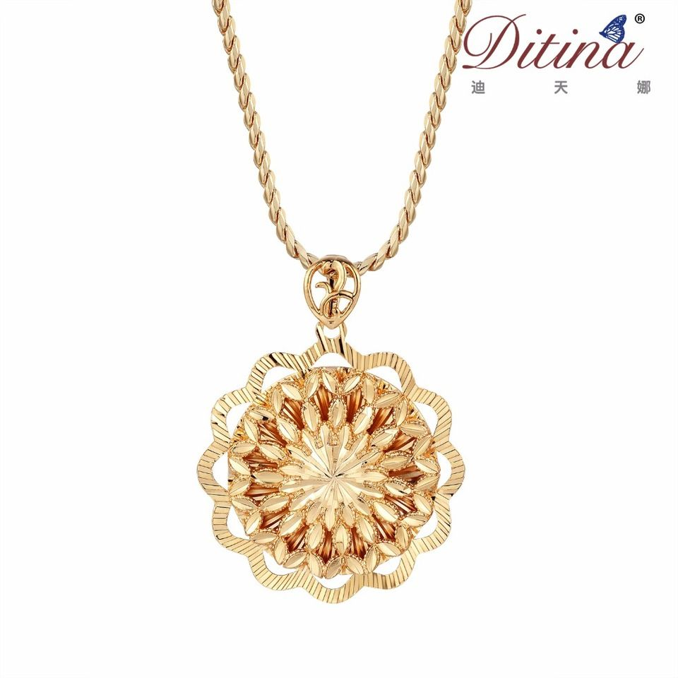 ee9a32f6e5b098 Locket gold pendant necklace for women in Dubai, India style design,Sun  flower fashion style