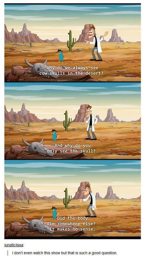 Doofenshmirtz Asking The Questions That Really Matter Disney Funny Cartoon Logic Funny Pictures
