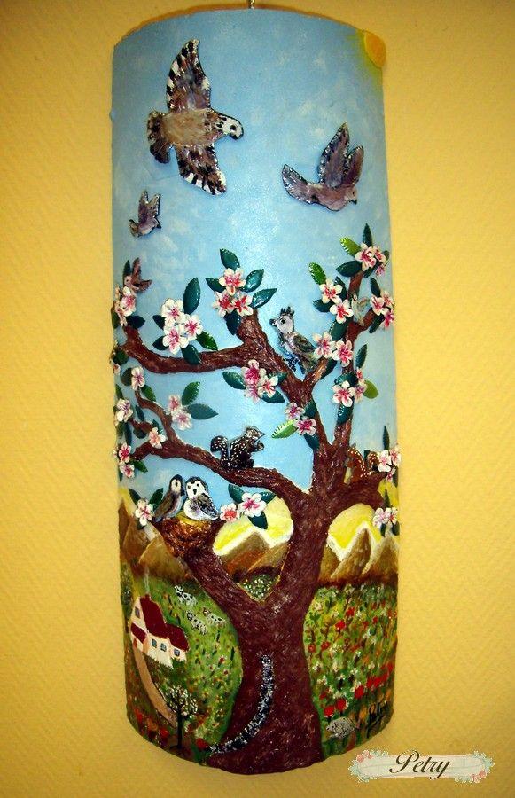 Resultado de imagen de tejas decoradas con servilletas de - Servilletas de papel decoradas para manualidades ...