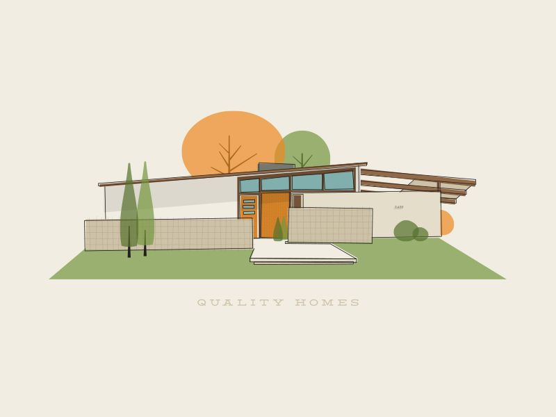 Quality Homes | Mid century house, Modern exterior, Mid ...