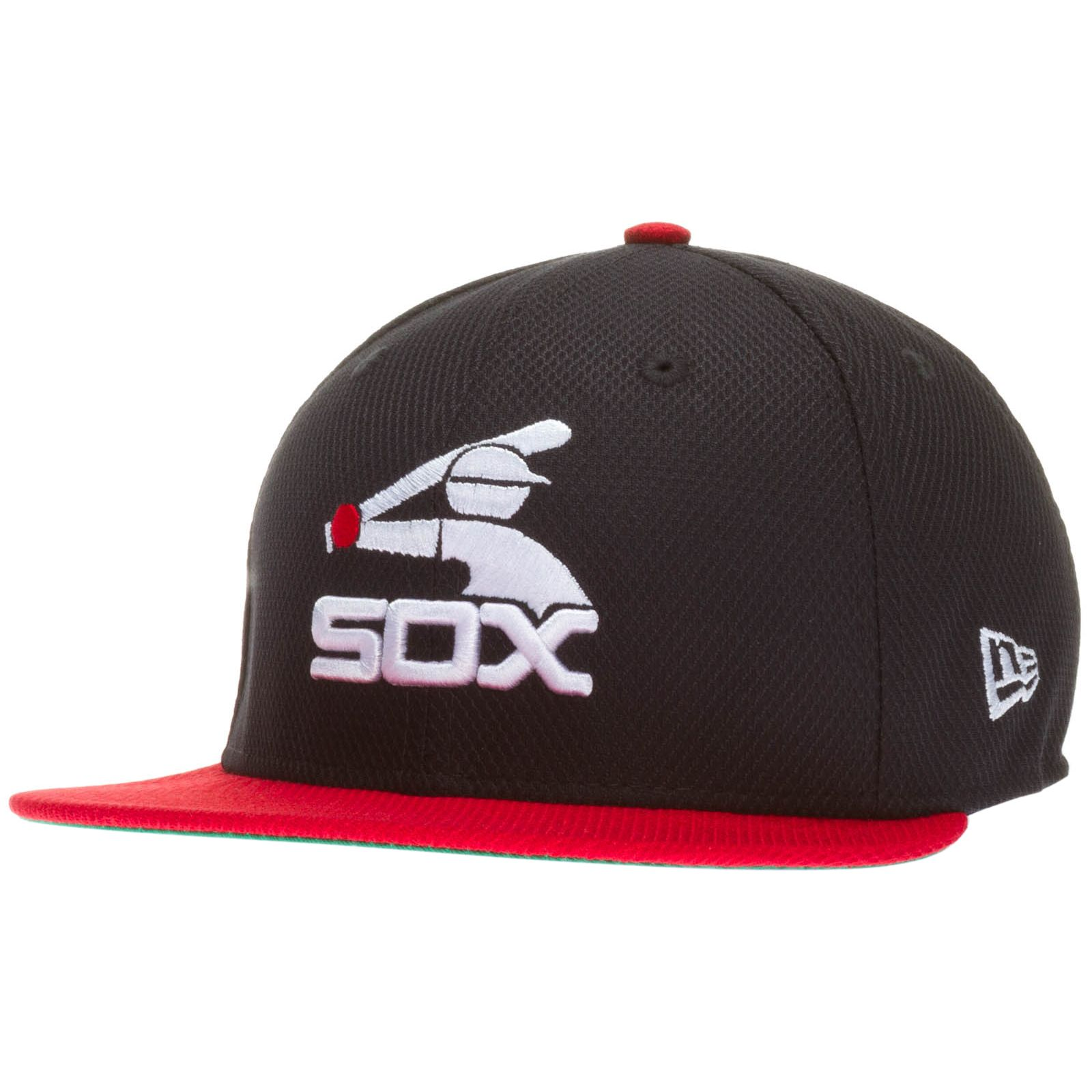 03425b2bf Chicago White Sox Navy and Red Batterman Logo Flat Bill Fitted Hat ...