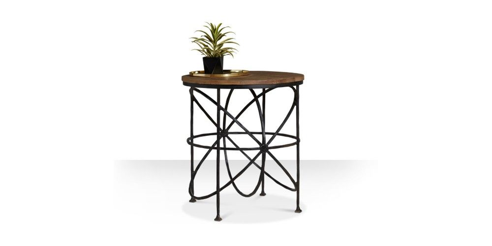 Swoon Editions Side table, industrial style in Mango wood