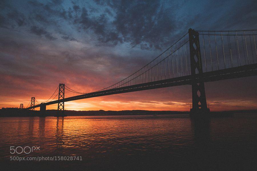 Bay Bridge at sunrise by keepitraw. @go4fotos
