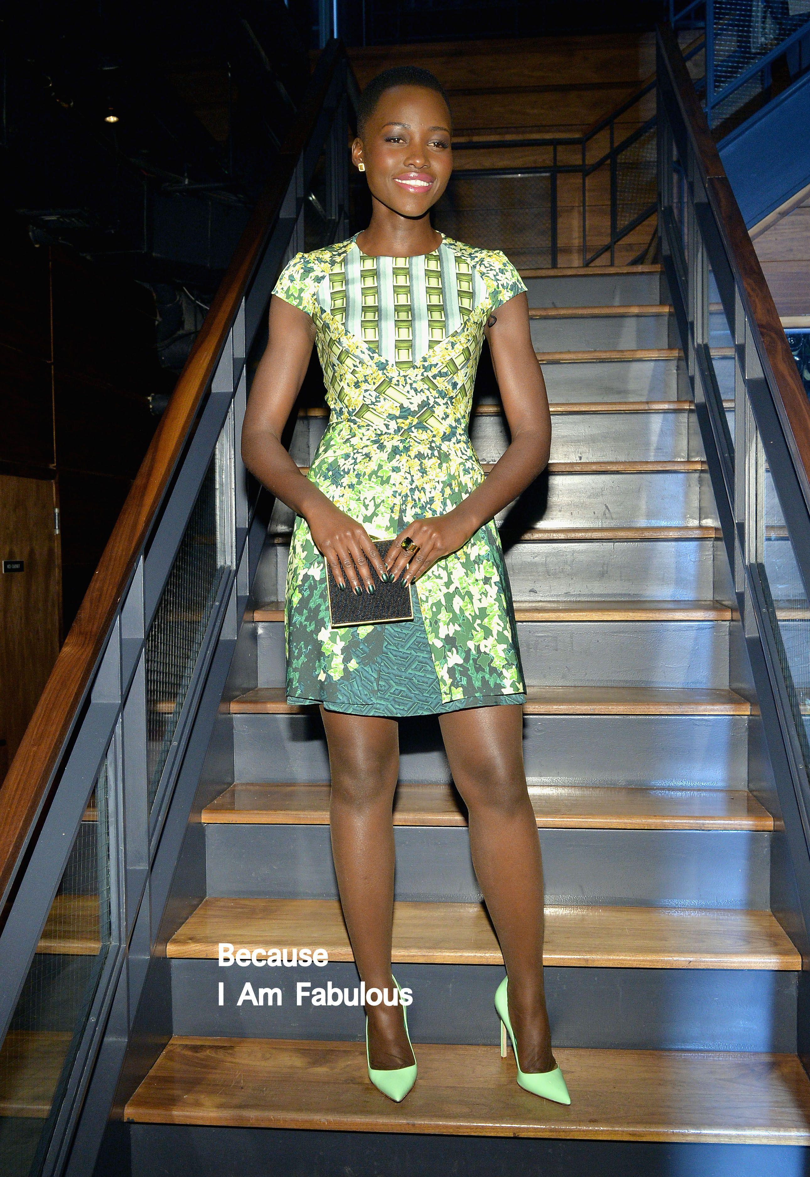 Fabulously Spotted: Lupita Nyong'o Wearing Peter Pilotto - DuJour Magazine's Lupita Nyong'o Cover - http://www.becauseiamfabulous.com/2014/02/lupita-nyongo-wearing-peter-pilotto-dujour-magazines-lupita-nyongo-cover/