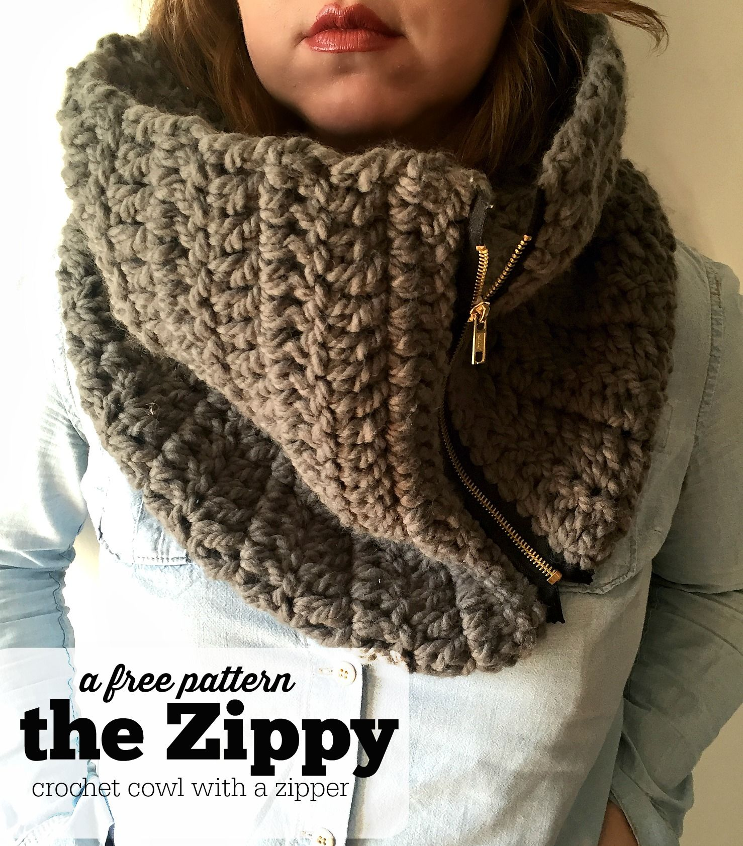The zippy cowl a free pattern winter wardrobe wardrobes and learn how to make our crochet cowl with a zipper this simple cowl pattern is bankloansurffo Gallery