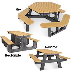 Recycled Plastic Picnic Tables In Stock Uline 675 00 Plastic