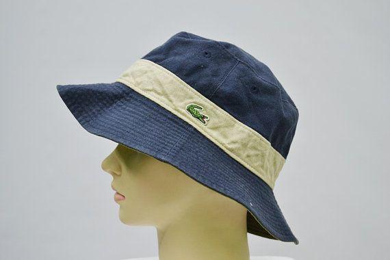 7f9284b6835872 Lacoste Hat Vintage Lacoste Reversible Bucket Hat Lacoste Vintage Bucket Cap