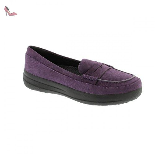 F-Sporty Loafer Nubuck, Mocassins Femme - Blue (Supernavy), 39 EUFitFlop