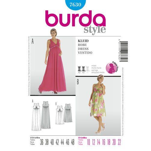 Burda Style Pattern 7630 Dress