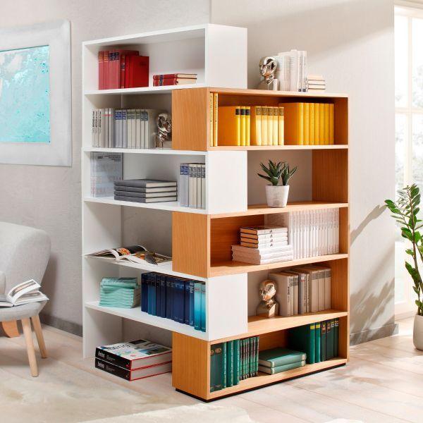Eckhardt Design Eckregal Komplettset Zweifarbig 6er
