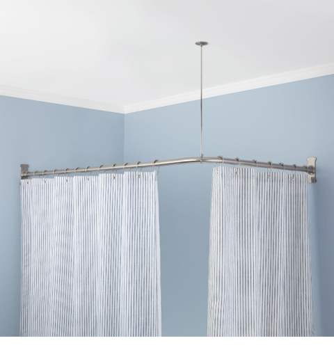 Corner Shower Curtain Rod Best Shower Curtain Ideas Corner