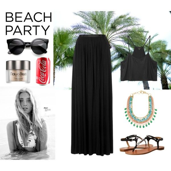beach party by pimargarida on Polyvore featuring moda, Monki, Topshop, Coach, ZeroUV and Natura Bissé