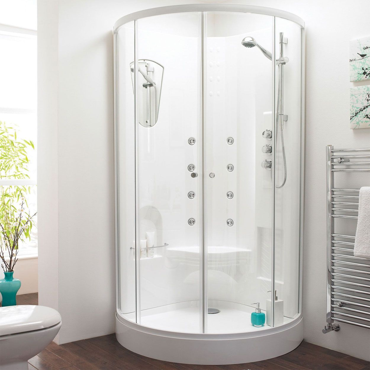 POWER SHOWER! These ranges of shower enclosures are gorgeous! http ...