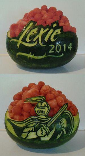 graduation watermelon