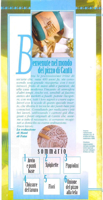 Mani di fata il pizzo di cant speciale scuole 0114 newspaper bobbin lace in italian bilrosbirros em italiano encaje de bolillos tombolo pooptronica