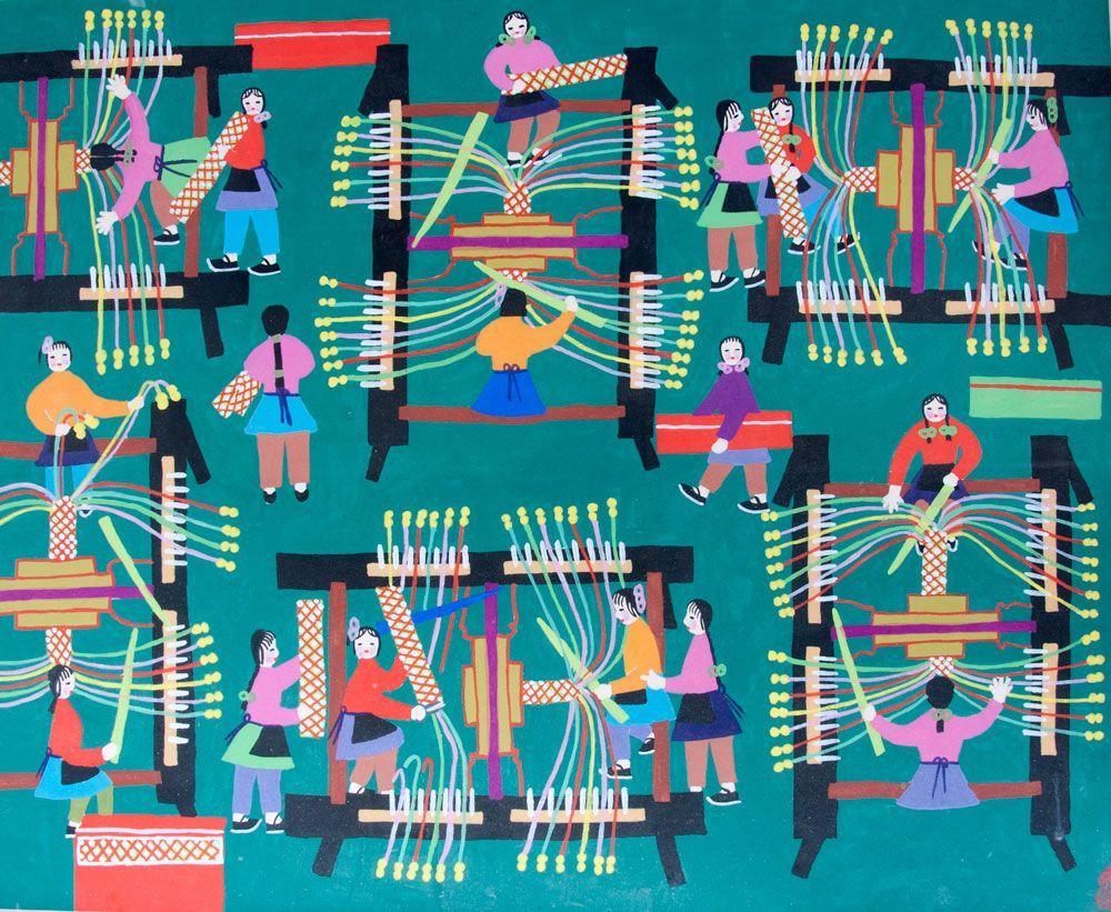 20paintings fishing jpg chinese peasant paintings pinterest - Chinese Folk Art Google Search