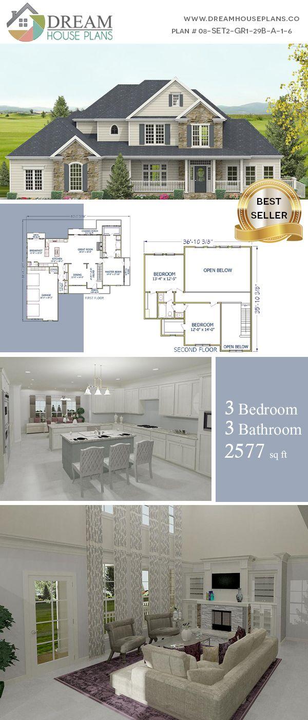 Southern Living Family Room Decor: Dream House Plans: Best Southern Living Family 3 Bedroom