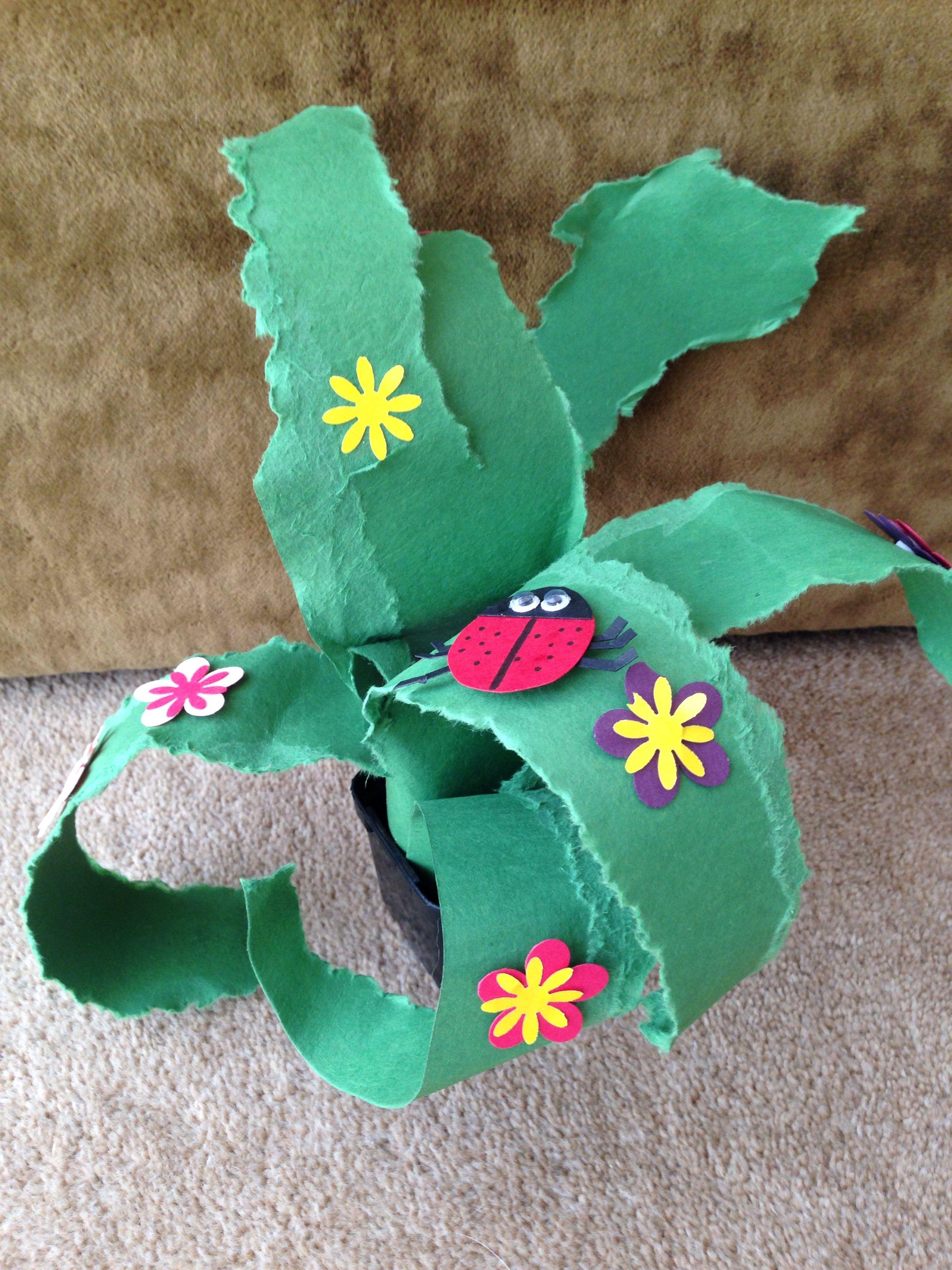 Miss E's version of Mr Maker's paper plant