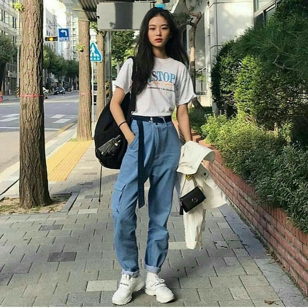 G E O R G I A N A Korean Outfit Street Styles Korean Girl Fashion Fashion Inspo Outfits