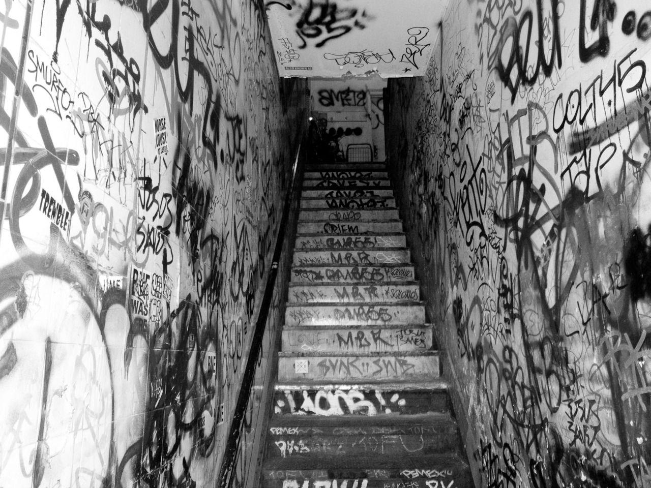 Guerilla basement stairs street art favorites pinterest