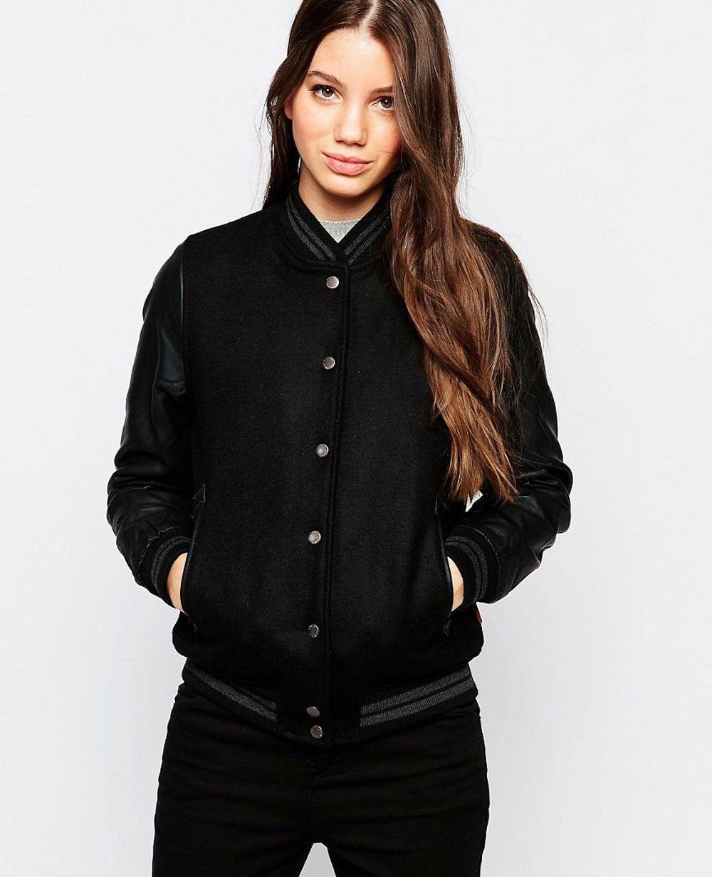 Http Www Quickapparels Com Bellfield Women Varsity Jacket Html Varsity Jacket Jackets Varsity Bomber Jacket